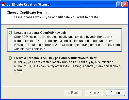 Gpg4win Compendium 7 Creating a certificate – Computer Certificate Format